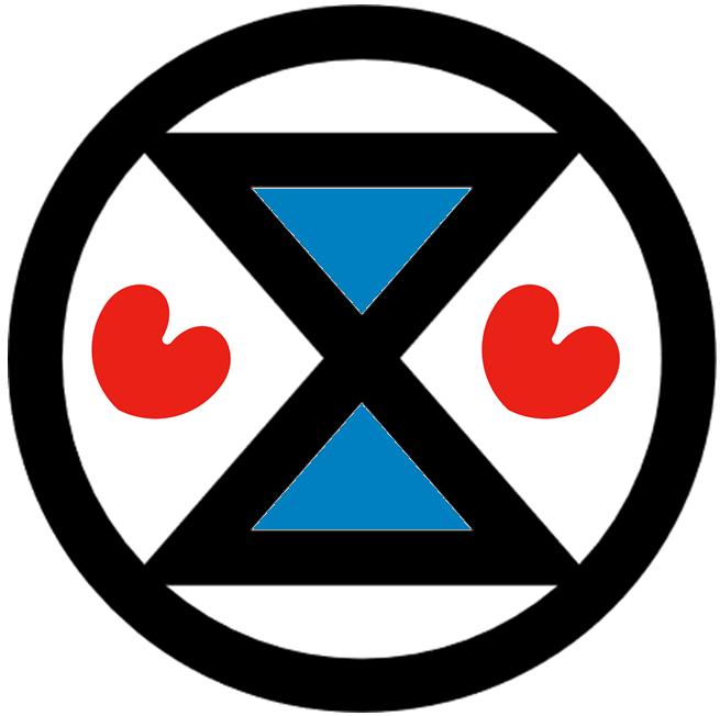 Extinction Rebellion Leeuwaarden/Fryslân logo