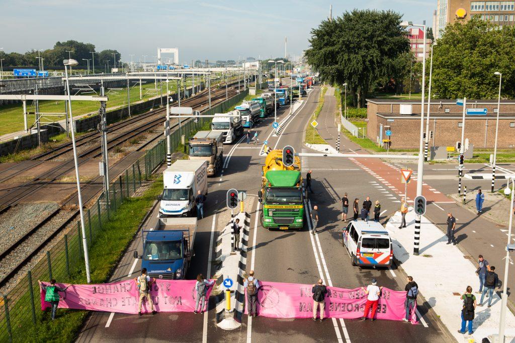 oil truck tankers blocked